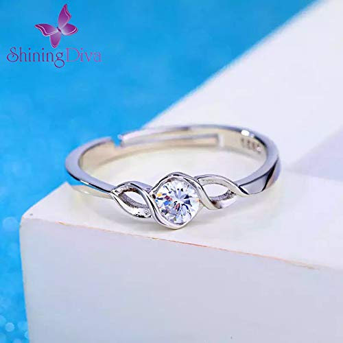 Crystal Romantic Silver Plated Ring for Women