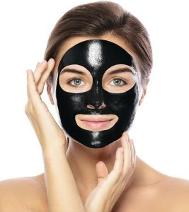 Womens charcoal clay mask for blackheads - WBO
