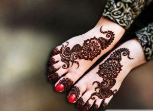 Womens feet mehndi design - WBO