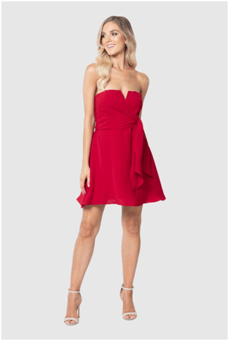 RED Peplum Frock!