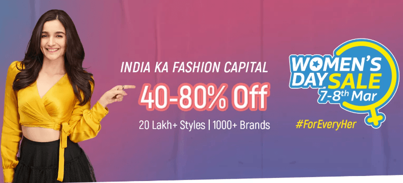 womens day sale 2019 Flipkart