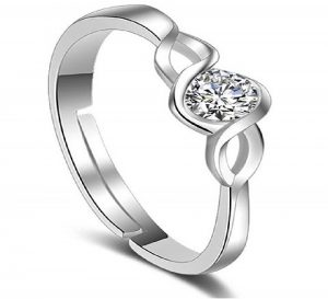 Crystal Romantic Silver Plated Ring for Women 123