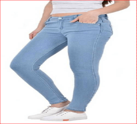 Women Light Blue Jeans 500 RS
