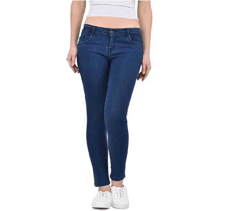 Womens Blue Jeans 500 Rupay