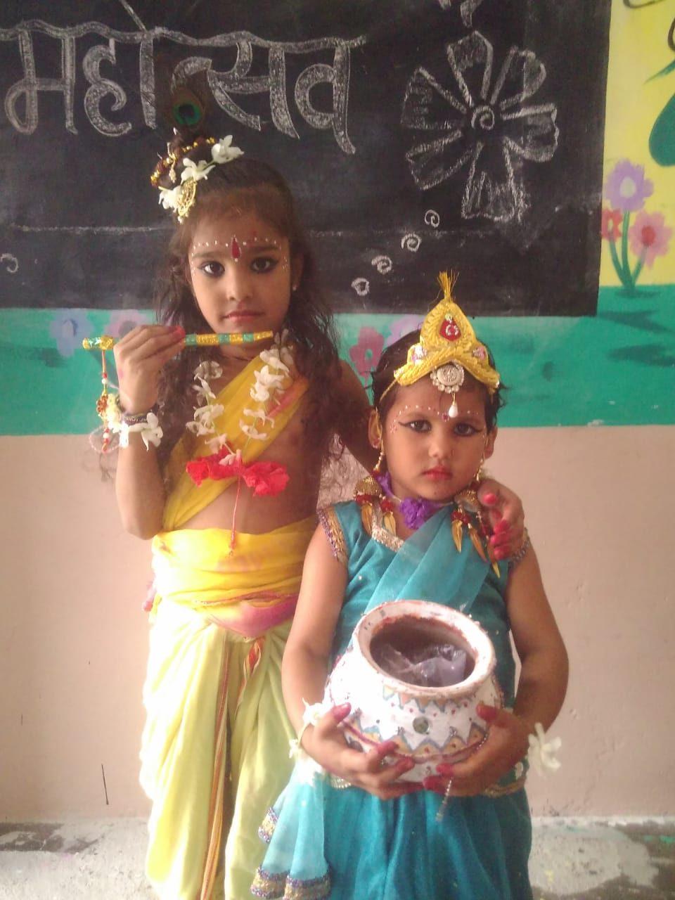 Vyas Montessori Schools Kids celebrate Janmashtami Utsav 2019