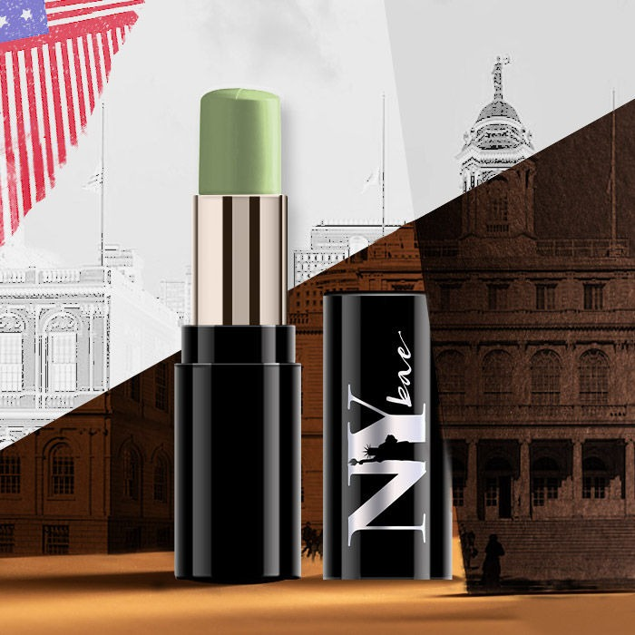 NY Bae Castor Oil Infused Foundation Concealer Colour Corrector Stick, For Concealing Redness, Hiding in City Hall - The Green Secret Treasures 28 (4.8 g)