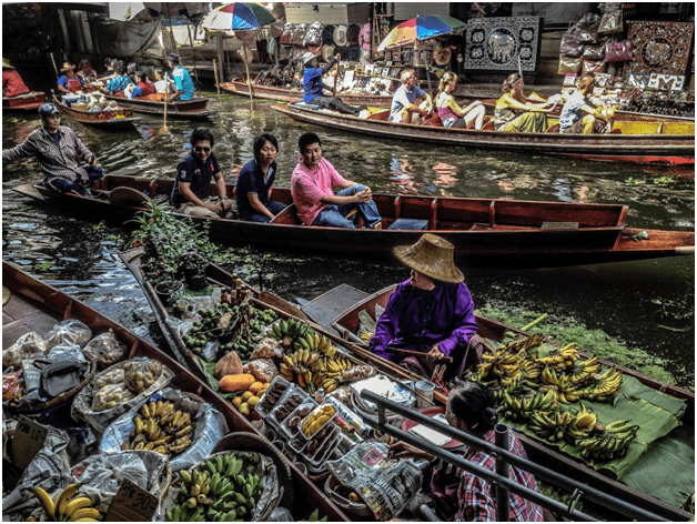 Floating Market Shopping at Chatuchak Market Siam Adventure Park Bangkok Pattaya Tour Package