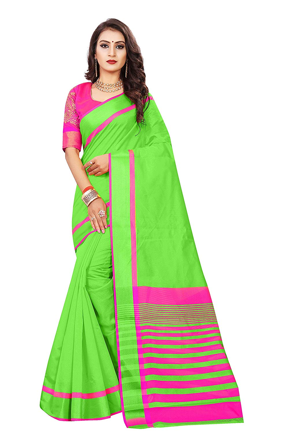 Green Saree For Girls