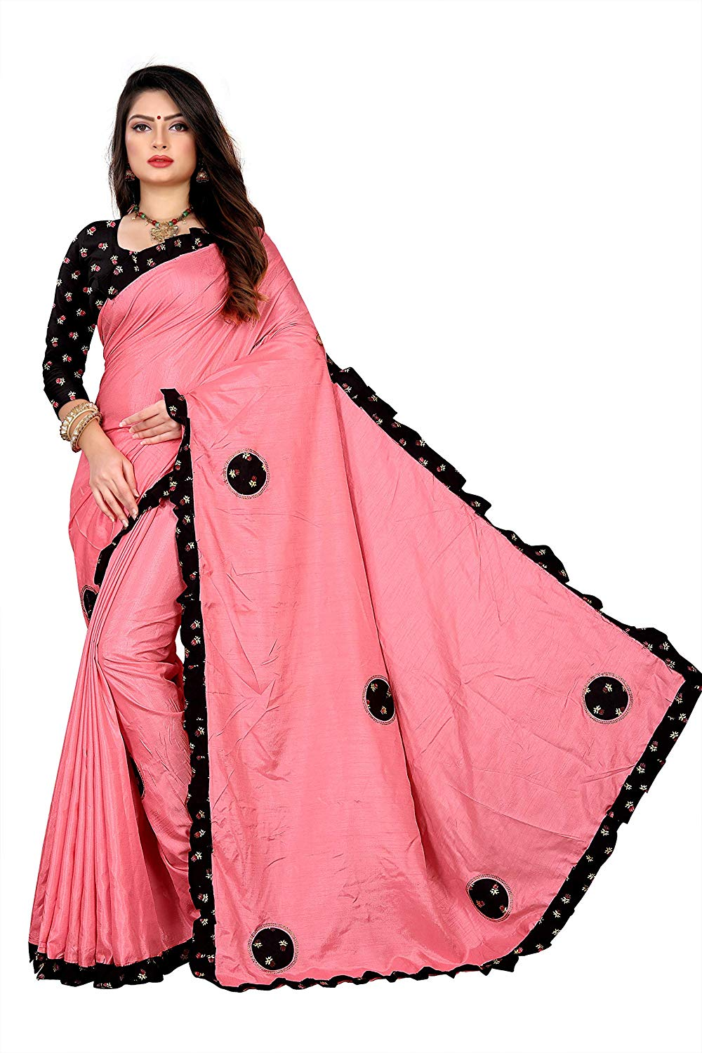 Pink Saree For Girls