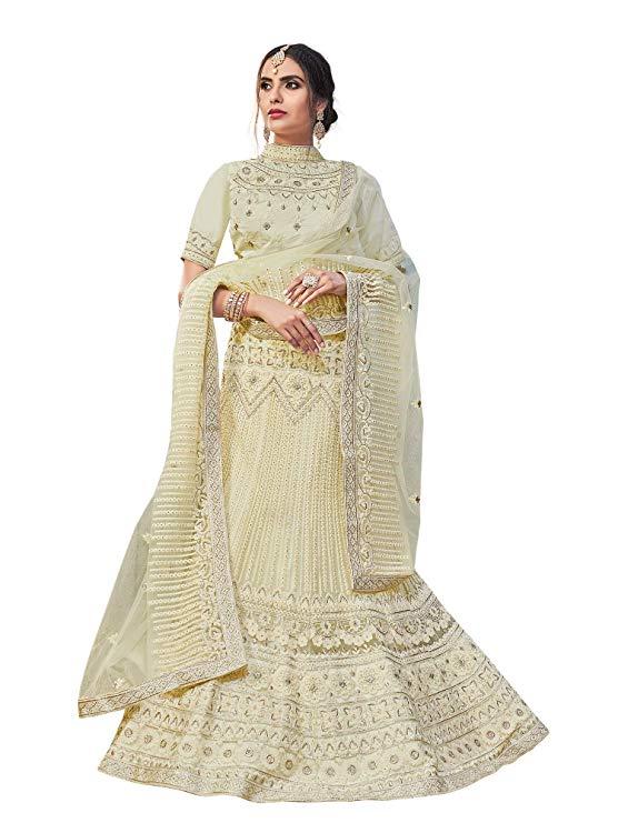 White Bridal Lehenga For Weddding