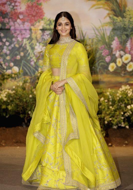 Alia bhatt Sabyasachi Yellow Lehenga