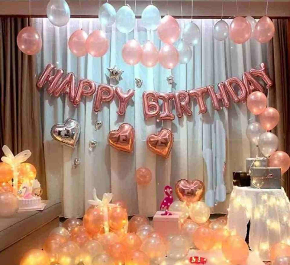 Romantic Surprise Birthday Decoration Ideas for Wife/ Girlfriend.
