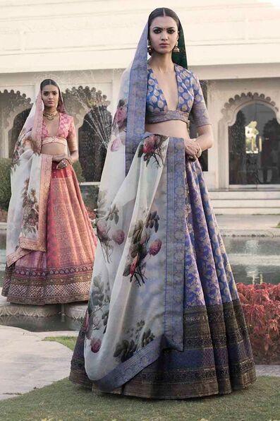 Silk Banarasi lehenga