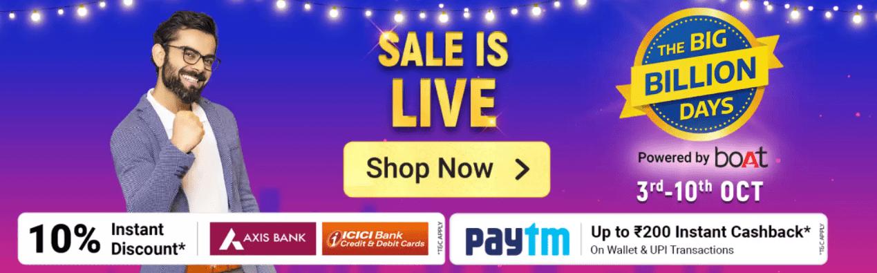 Flipkart Big Billion Days Sale Offers List