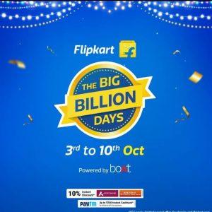 Flipkart Big Billion Days Sale Offers List | 3rd - 10th Oct 2021