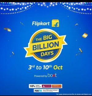 Flipkart Big Billion Days Sale Offers List   3rd - 10th Oct 2021