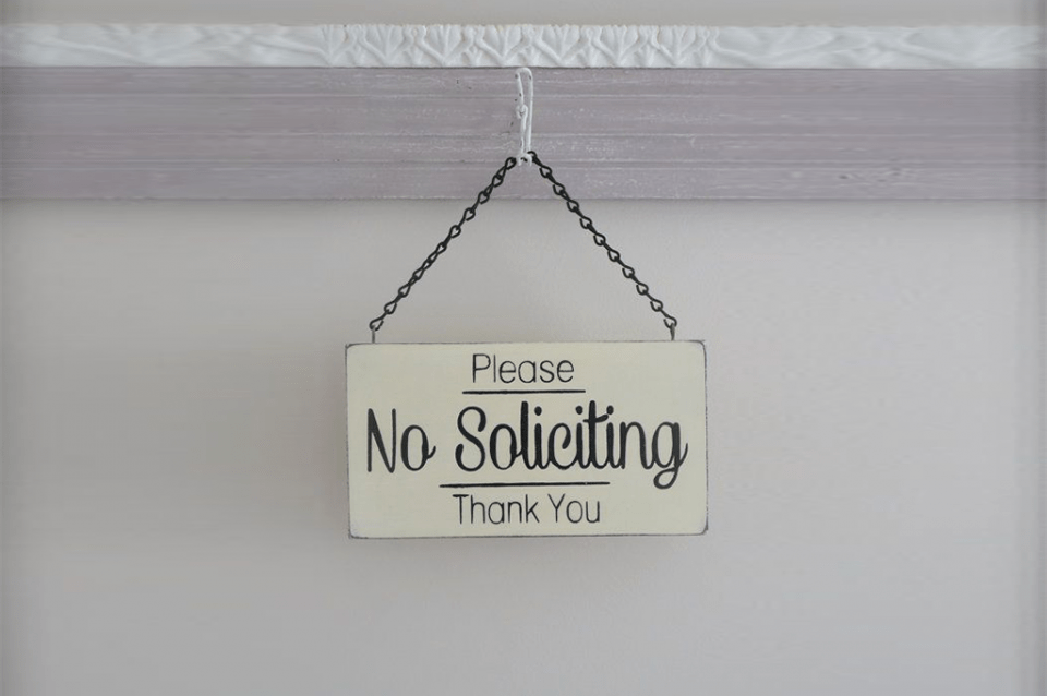 Getting Around No Soliciting Signs.
