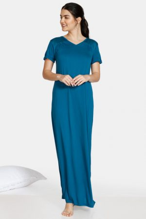 Blue NIght Gown Under 900 Rupees