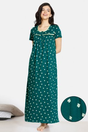 Green Night Gown Under 1000 Rupees