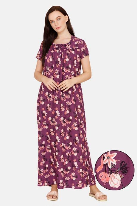 Purple Night Gown Under 1100 Rupees